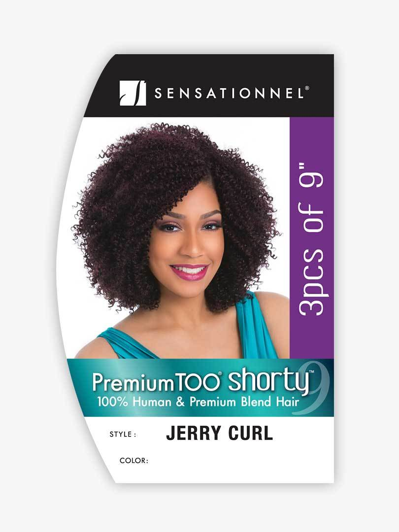 "Premium Too Shorty Jerry Curl 9"" 3PCS"
