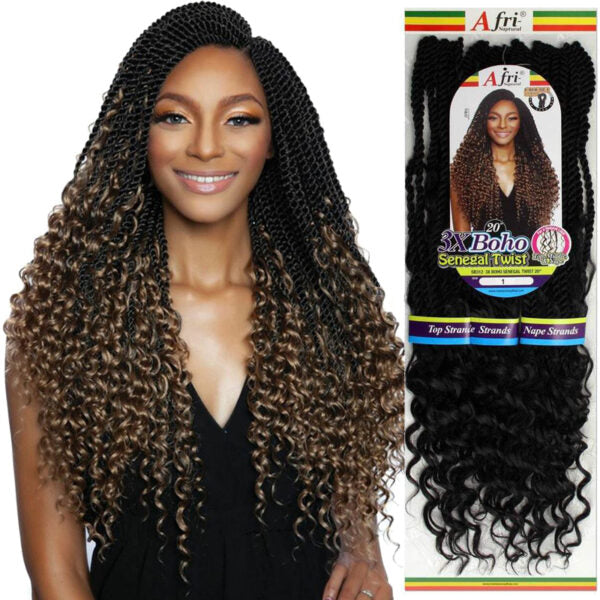 Afri Naptural- 3X Boho Senegal Twist 20""