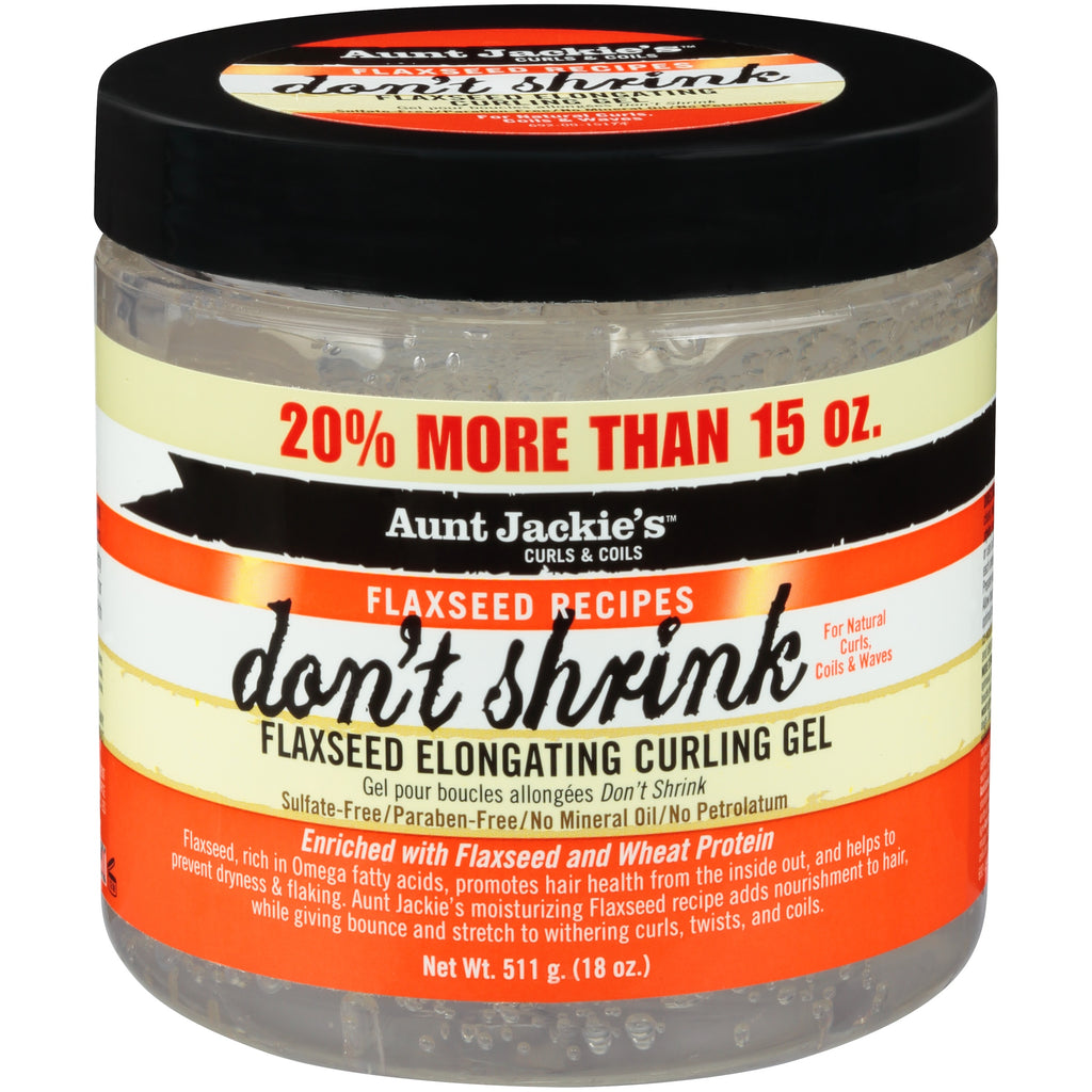 Aunt Jackie's- Curls & Coils/Flaxseed Recipes Don't Shrink 15 oz