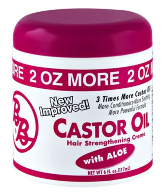 B&B- Castor Oil Hair Strengthening Cream 6 0z