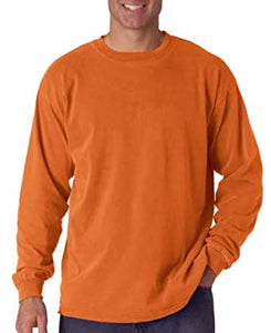 COMFORT COLORS LONG SLEEVE - ORANGE