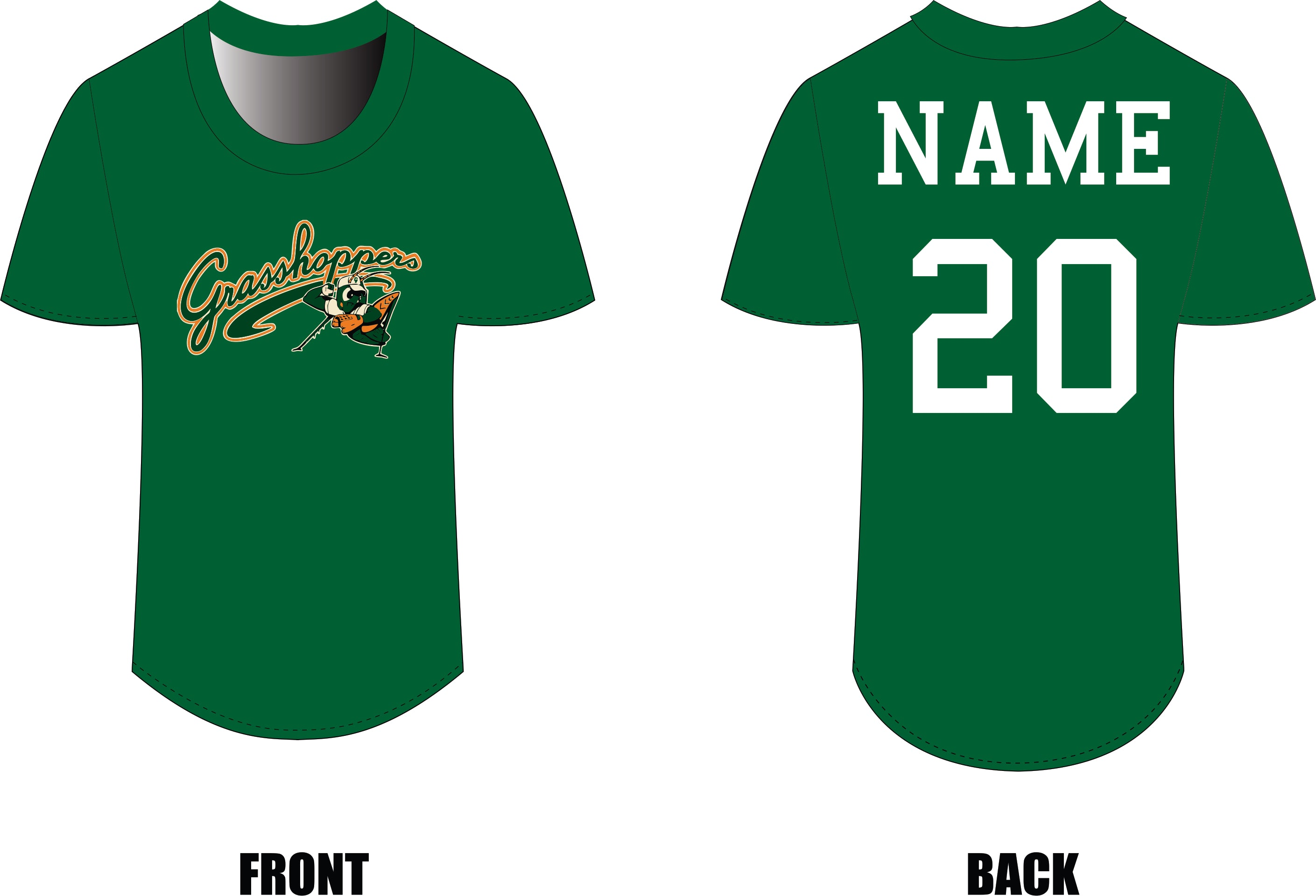 Grasshoppers Little League Shirt