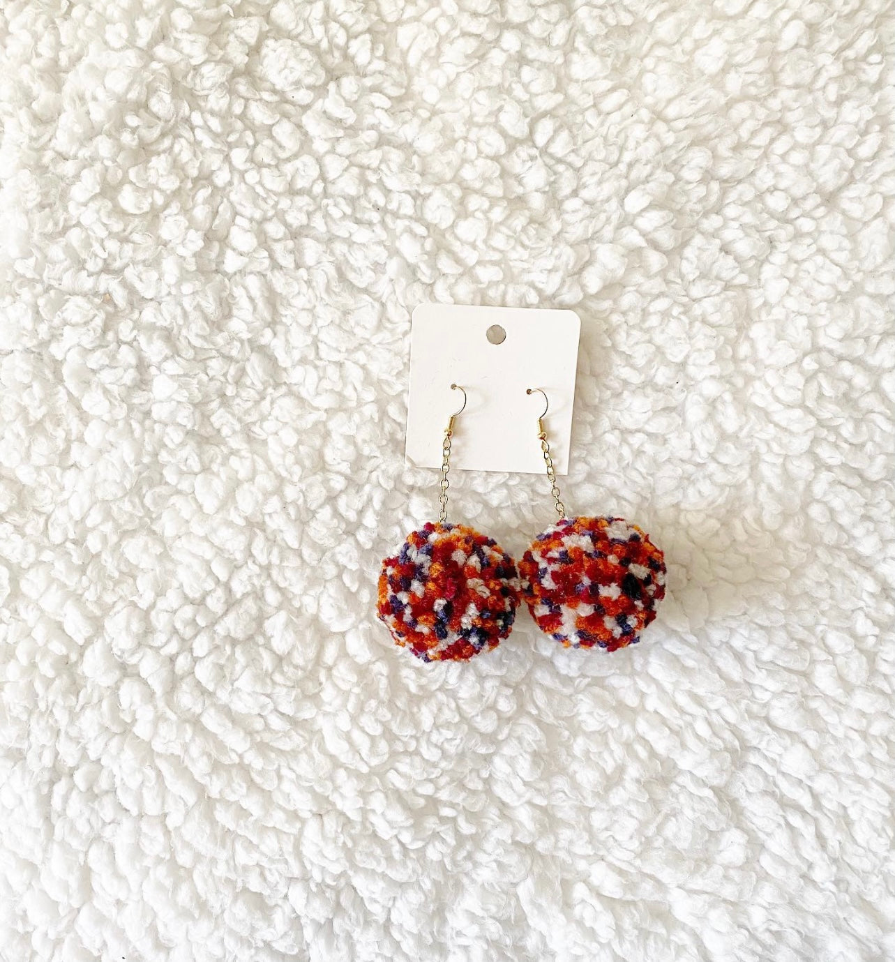 AUTUMN POM EARRINGS
