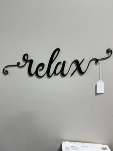 RELAX WOOD SIGN