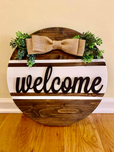 Farmhouse Hanging Welcome Sign