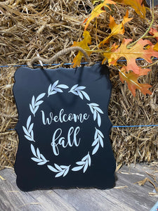 """Welcome Fall"" Hanging Sign"