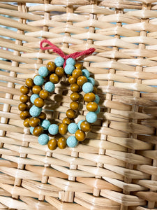 Wood and Turquoise - 3 Bracelet set