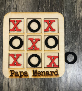Tic-Tac-Toe Wooden Game