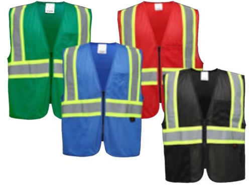 Enhanced Visibility Multi-color Vest 3133-3136
