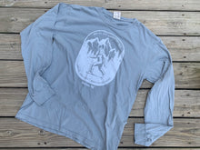 Load image into Gallery viewer, Comfort Wash Long Sleeve Not All Who Wander Bigfoot