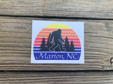 Load image into Gallery viewer, Sunset Bigfoot Bumper Sticker