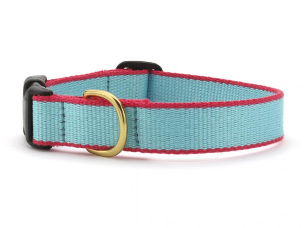 Green Market Aqua and Coral Dog Collar