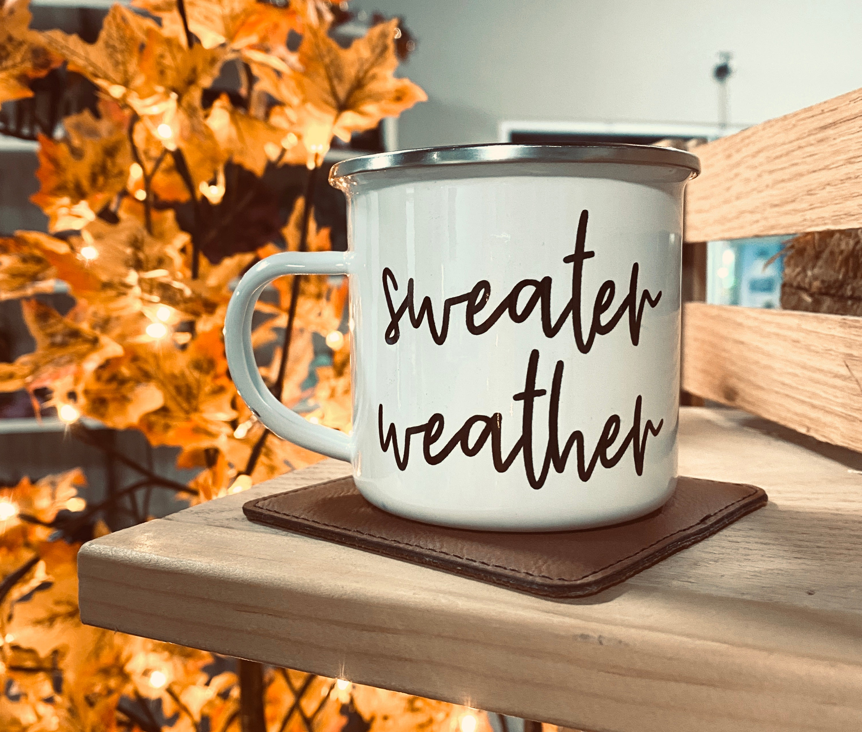 """Sweater Weather"" Camp Mug"