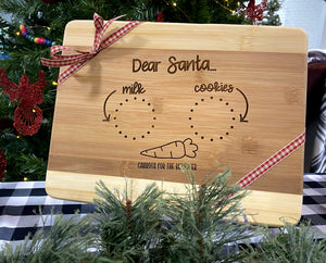 """Dear Santa,"" Cookie Board"