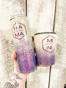 Mama/Mini Purple (set)