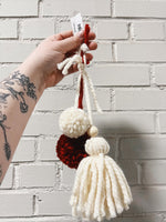 Load image into Gallery viewer, POM DECOR - CREAM RED