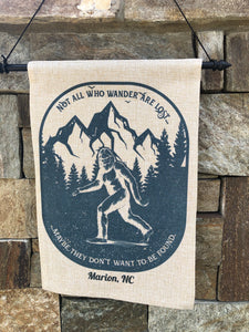 Bigfoot Garden Flag