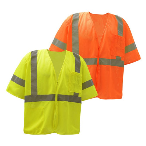 Standard Class 3 Mesh Zipper Safety Vest 2001/2002