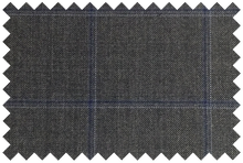 Load image into Gallery viewer, P366S6S - Charcoal and Blue Windowpane Pants