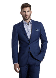 Blue and Black Windowpane Jacket