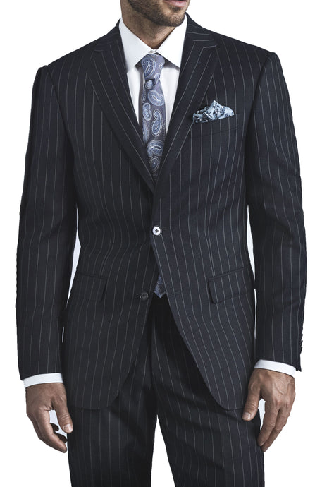 Charcoal Pinstripe Jacket