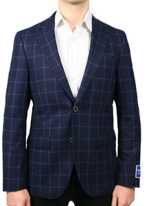 Tollegno 1900 Purple Windowpane Jacket