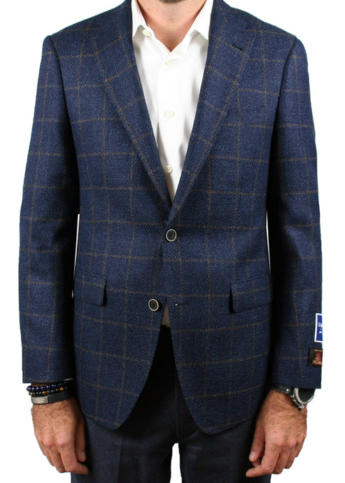 Blue and Brown Windowpane