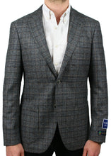 Load image into Gallery viewer, Lanificio Grey and Brown Textured Check Jacket