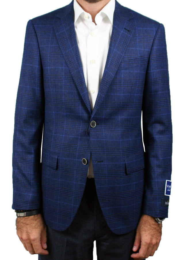 Blue Tonal Check and Windowpane