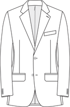 Load image into Gallery viewer, Charcoal and Brown Neat Jacket