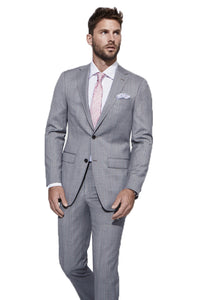 Brown Check with Coral Detail Suit