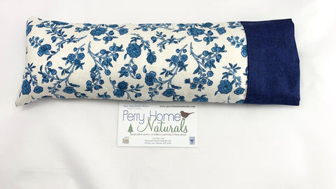 Herbal Eye Pillow - Blue Flowers Design