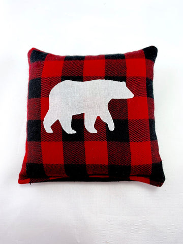 Maine Balsam Fir Sachet with Appliqued Polar Bear on Cotton and Linen