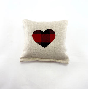 Sachet with Heart Applique on Linen Blend - Choice of Scent (Size Small)
