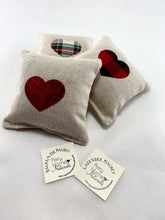 Load image into Gallery viewer, Sachet with Heart Applique on Linen Blend - Choice of Scent (Size Small)