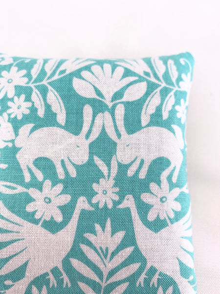 Lavender Sachet with Spring Forest Friends in Teal Design