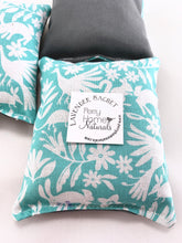 Load image into Gallery viewer, Lavender Sachet Trio with Spring Forest Friends in Teal