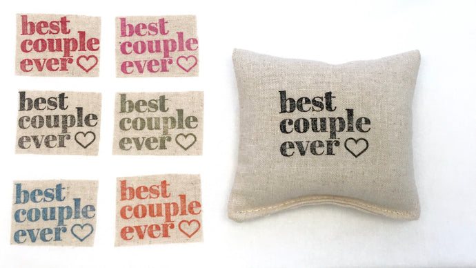 Best Couple Ever Design Sachet - Choice of Scent and Ink Color