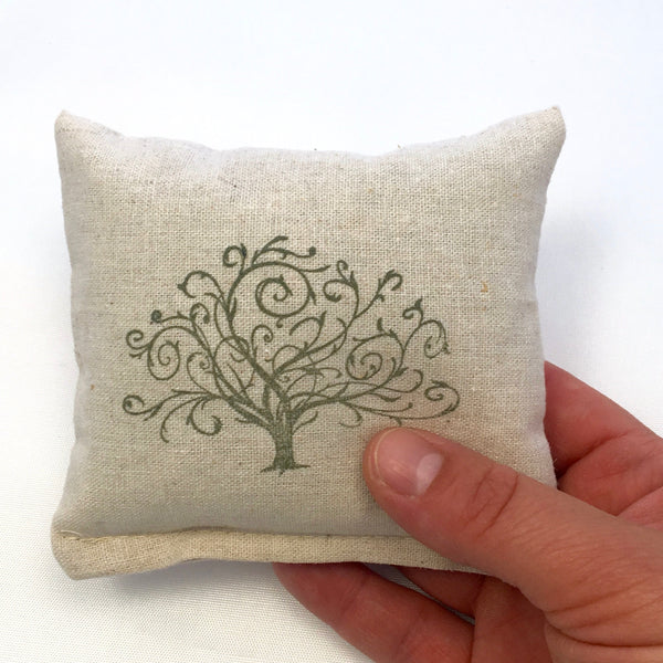 Tree Design Scented Pillow - Choice of Ink Color, Size, and Scent