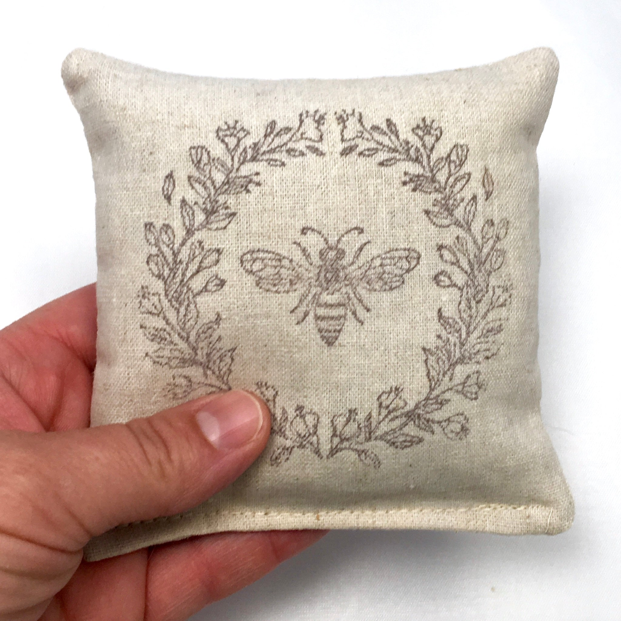 Bee Design Scented Pillow - Choice of Ink Color and Scent