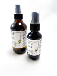 Organic Sage Room and Linen Spray - Natural Air Freshener