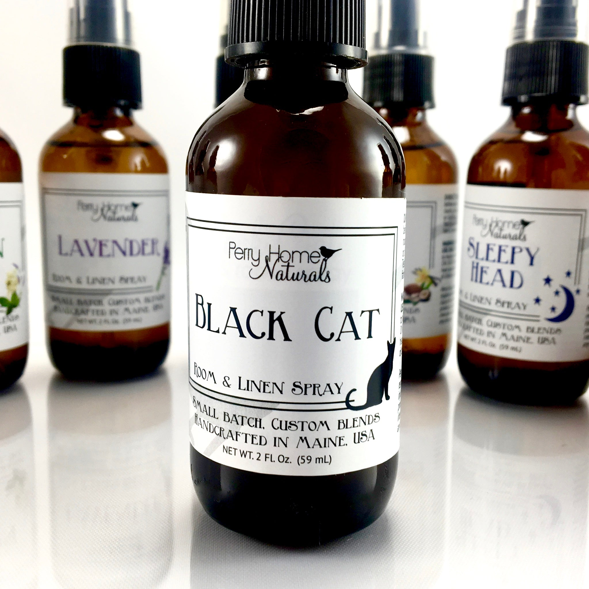 Black Cat Room & Linen Spray - Earthy and Spicy Natural Air Freshener