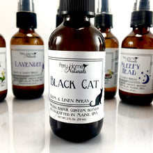 Load image into Gallery viewer, Black Cat Room & Linen Spray - Earthy and Spicy Natural Air Freshener