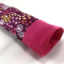 Load image into Gallery viewer, Eye Pillow with Removable Case and Choice of Organic Blend - Purple Flowers Design