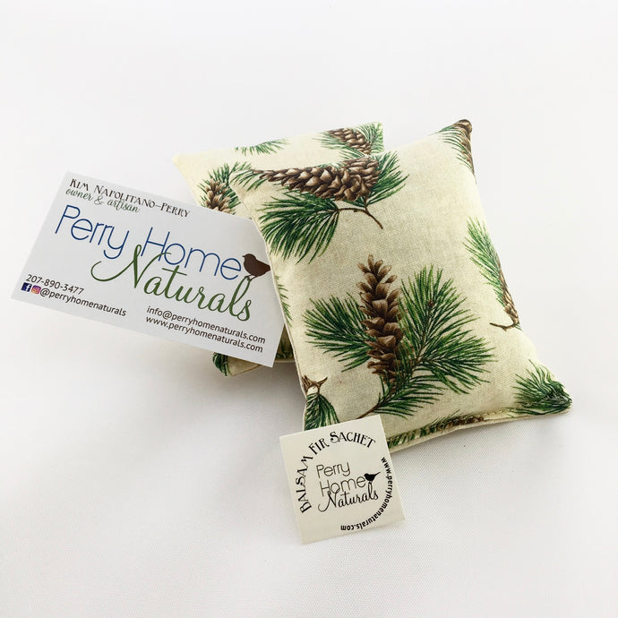 Maine Balsam Fir Pillow with Pine Print