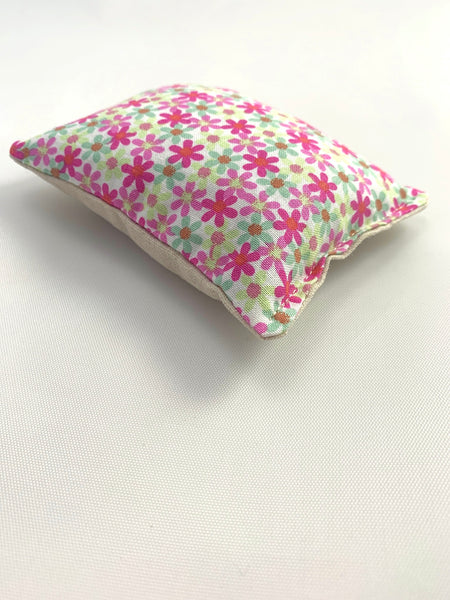 Lavender Pillow - Cotton Print - Hot Pink Flowers Design