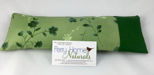 Herbal Eye Pillow - Choice of Scent - Emerald Green Flowers