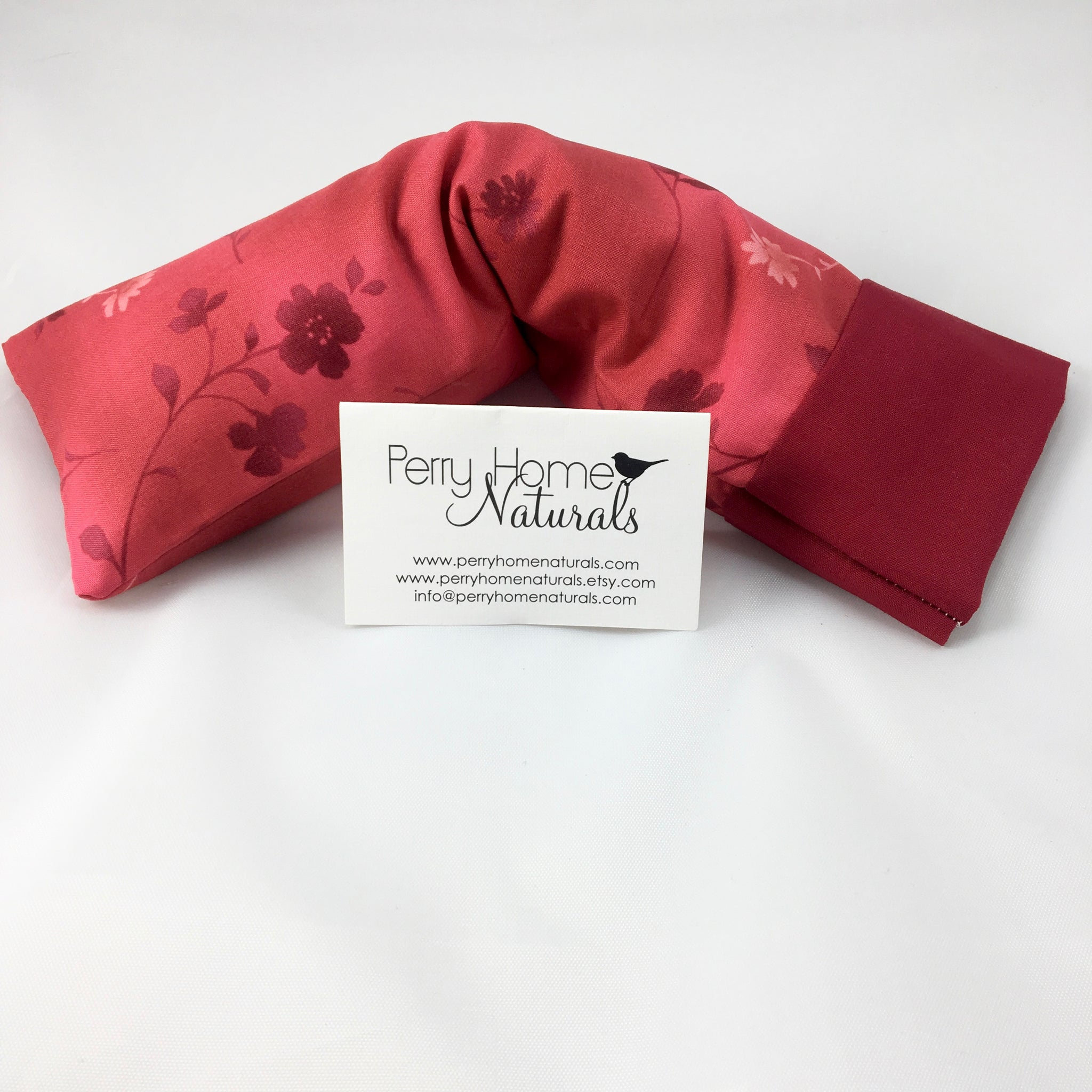Herbal Eye Pillow - Choice of Blend - Ruby Red Flowers