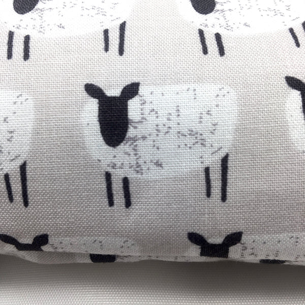 Flax Seed and Herb Eye Pillow with Washable Case - Choice of Herbal Blend - Counting Sheep Design