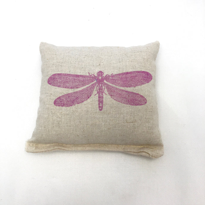 Dragonfly Design Scented Pillow - Choice of Ink Color and Scent